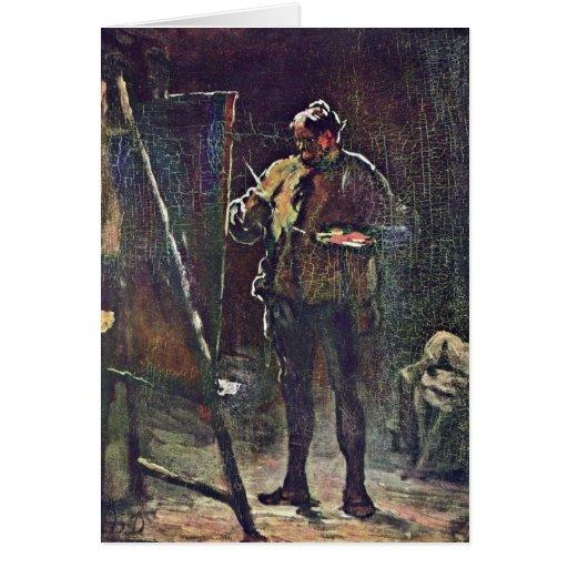 O pintor na armação por Honore Daumier Cartoes