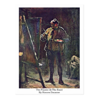O pintor na armação por Honore Daumier Cartões Postais