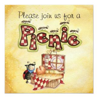 o piquenique convida convite personalizados