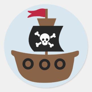 O pirata envia a etiqueta para miúdos