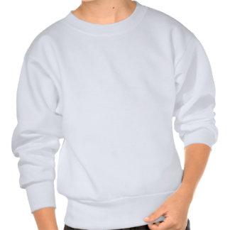 O pitbull branco caçoa a camisola suéter