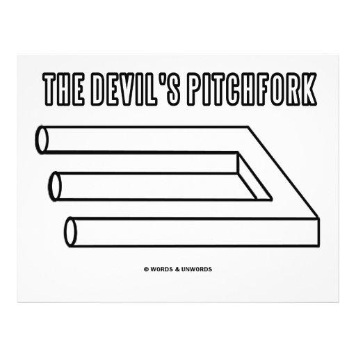 O Pitchfork do diabo (ilusão óptica) Panfletos Personalizados