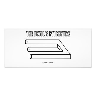O Pitchfork do diabo (ilusão óptica) Panfletos Informativos Personalizados