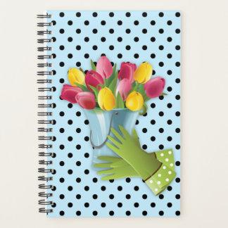 O planejador das luvas do vaso de flores da tulipa