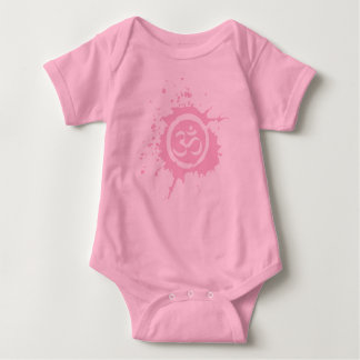 O planeta orgânico cor-de-rosa de Aum caçoa Body Para Bebê