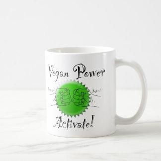 O poder do Vegan ativa a caneca de café