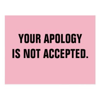 O político sua desculpa não é aceitado cartão postal