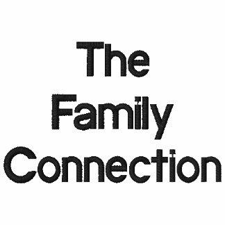 O pólo da conexão da família camisas polo bordadas