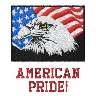 O pólo orgulho americano dos homens bordados camiseta bordada polo