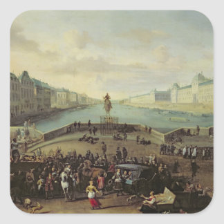 O Pont Neuf, Paris, 1665-69 Adesivo Quadrado