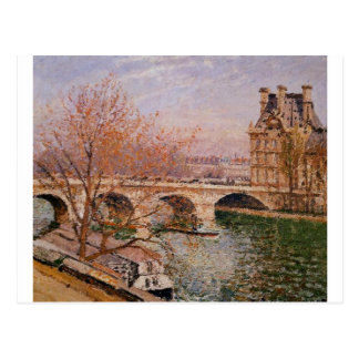 O Pont real e o Pavillion de Flore Camilo Cartão Postal