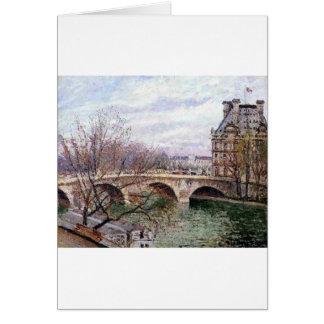 O Pont real e o Pavillion de Flore Cartão Comemorativo