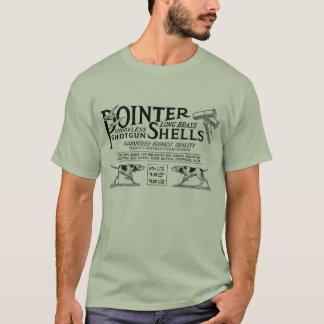 O ponteiro descasca o t-shirt camiseta