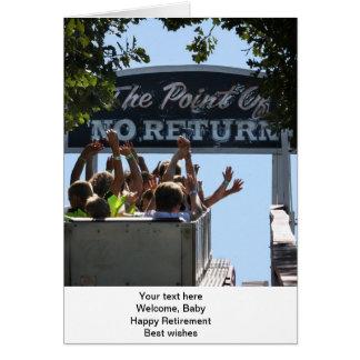 O ponto de nenhum cartão do retorno