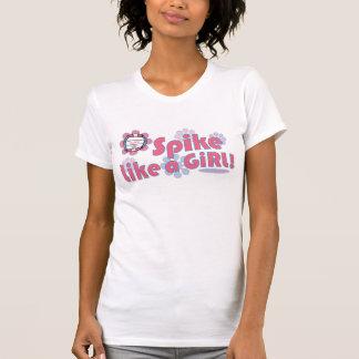O ponto gosta de uma camisa do voleibol da menina