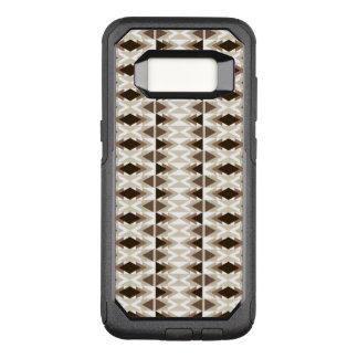 O ponto morto tribal asteca bronzeia o Taupe bege Capa OtterBox Commuter Para Samsung Galaxy S8