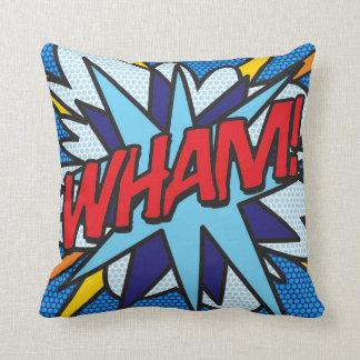O pop art da banda desenhada WHAM! KA-POW! Travesseiro