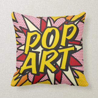 O POP ART da banda desenhada WHAM! travesseiro do Almofada