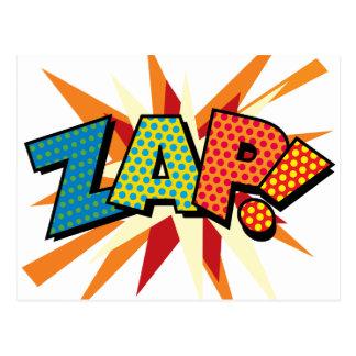O pop art da banda desenhada ZAP! Cartão Postal