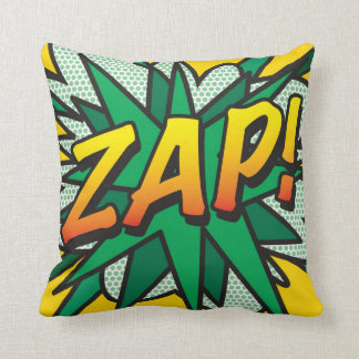 O pop art da banda desenhada ZAP! POP! Travesseiros De Decoração