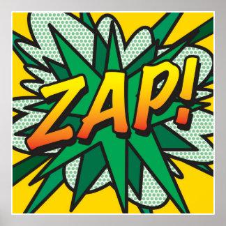 O pop art da banda desenhada ZAP! Pôster