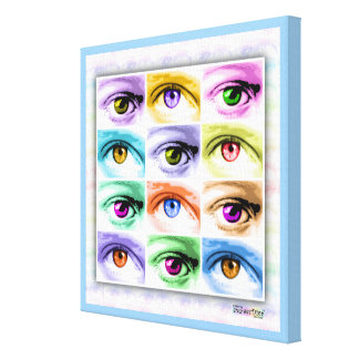 O POP ART EYES canvas (quadradas) da galeria
