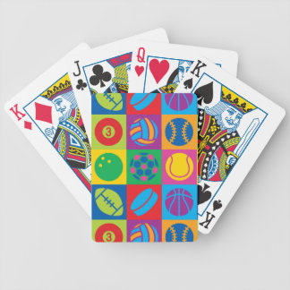 O pop art ostenta bolas baralhos de cartas