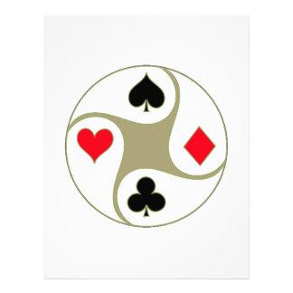 O póquer sere o cabeçalho papel de carta personalizados