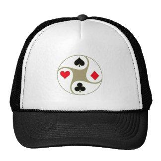 O póquer sere o chapéu boné