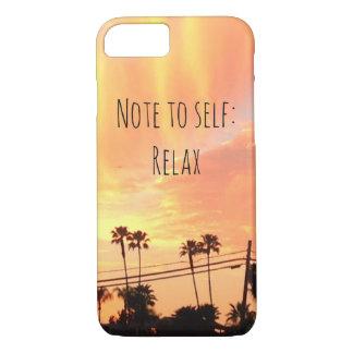O por do sol relaxa capas de iphone