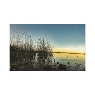 """O """"por do sol sobre o Lough Ree, canvas de"""