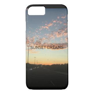 O por do sol sonha a capa de telefone