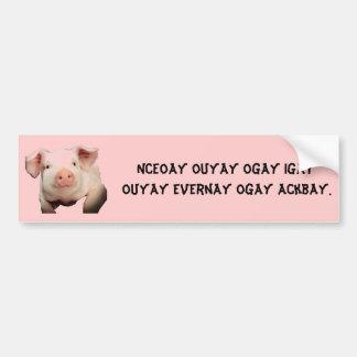 O porco (2)/porco/uma vez que você vai porco você  adesivos
