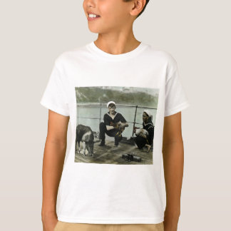 O porco do galo do marinheiro do vintage WWII das Camiseta