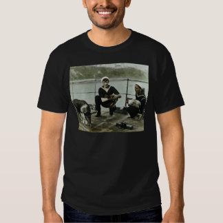 O porco do galo do marinheiro do vintage WWII das T-shirt