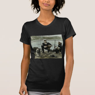 O porco do galo do marinheiro do vintage WWII das Tshirt