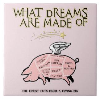 O porco do vôo Corte-Que sonha é feito de