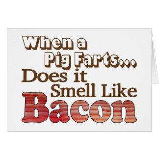 O porco Farts cartão