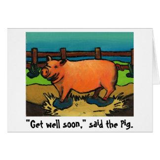 o porco obtem logo o cartão bom