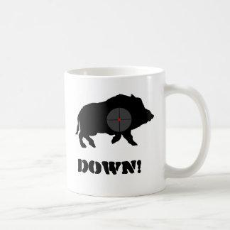 O porco preto de Bucknuts agride para baixo Caneca De Café