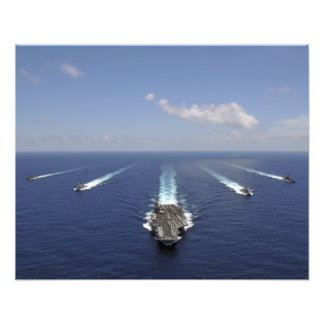 O porta-aviões USS Abraham Lincoln 2 Impressão De Foto