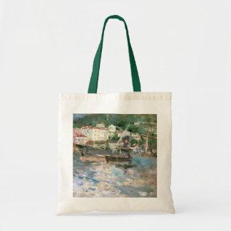 O porto, agradável por Berthe Morisot, belas artes Bolsa Tote