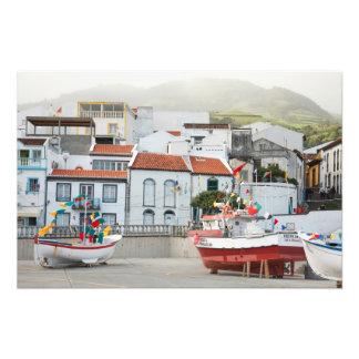 O porto de Vila Franca faz Campo Impressão De Foto