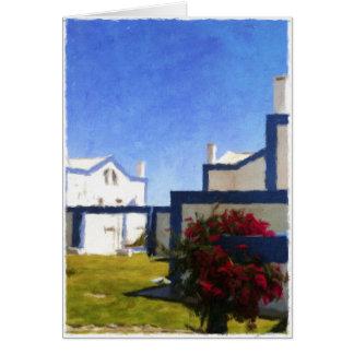 O português azul e branco abriga o cartão vazio