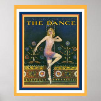 O poster 16 x 20 do art deco dos anos 20 do