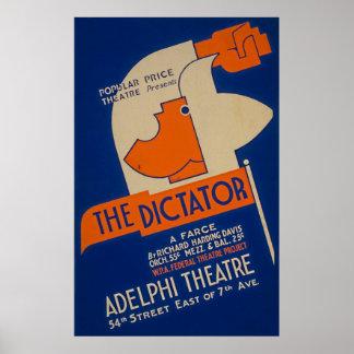 O poster 1940 do ditador Farsa WPA
