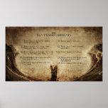 o poster da parede de 10 mandamentos