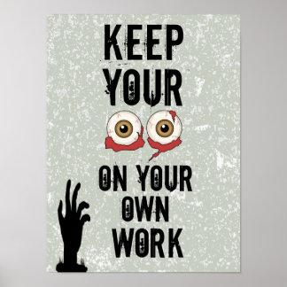 O poster da sala de aula do zombi do segundo grau