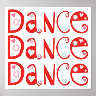 O poster das crianças da dança da dança da dança