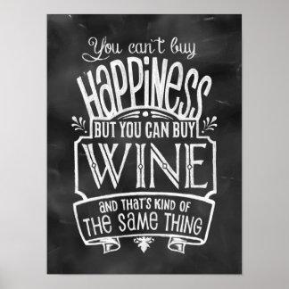 O poster de amante de vinho